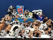 Vtg Lot 50 Pound Puppies Dogs Plush Doll Toys 1980s Tonka Babies Pups Used