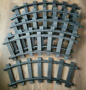 1970 Remco Mighty Casey Ride On Train Track Curved Track Lot - 6 Sections