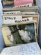 Antique Vintage Foreign International Postcard Lot Italy Germany Canada Asia