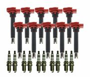 Bosch 10 Ignition Coils And 10 Double Platinum Spark Plugs Kit For Audi 5.2l V10
