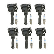 Bosch 6 Ignition Coils And 6 Platinum Spark Plugs Kit For Bmw 2.8 L6 M52