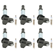 Bosch 6 Ignition Coils And 6 Platinum Spark Plugs Kit For Cadillac Cts 2.8 V6 Rwd