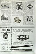 Old Vintage Print 1917 Christmas Presents Fountain Pen Watch Fountain Pen 20th