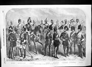 Old Print New Uniforms British Cavalry Royal Horse Artillery Lancers 1856 19th