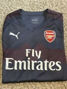Arsenal Jersey - Authentic Away Kit From The 18/19 Season No Name Long Sleeve