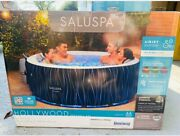 Hollywood Airjet Inflatable Hot Tub Spa With Led Lights 4-6 Person