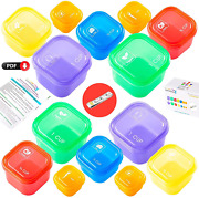 21 Day Portion Control Container Kit For Weight Loss14 Piece Labeled With Tape