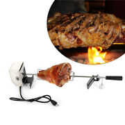 Outdoor Bbq 110v Electric Motor Skewers Needle 360° Rotation Rotisserie Grill Us
