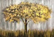 72x108 Large Original Abstract Painting Tree Paintings On Canvas Gold Wall Art