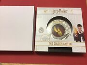 Harry Potter 2oz 999 Golden Snitch Coin Limited Ed Gold Snitch