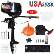 3.6hp 2stroke Outboard Motor Engine Fishing Boat Water Cooling Hangkai Used