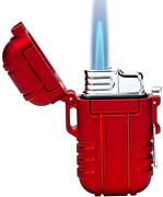Btxym Torch Lighter Refillable Mini Butane Lighter With Safety Lock Red
