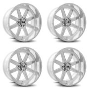 Set 4 22x12 Famous Forged H803 22x1 Polished 6x5.5 Wheels -51mm Rims