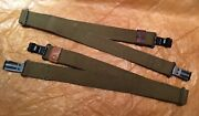 Soviet Russian Military Soldier Army Rifle Sling Strap Belt Canvas With 2 Buckle