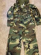 New Genuine Military Gore-tex Cold Weather Woodland Parka And Pants Set Medium Rg