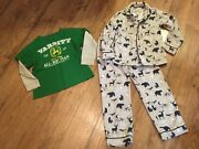 Boys Size 7-8 And 8 Clothes Lotpajamas Set And Shirtjohn Deere And Bass Pro Shopsec