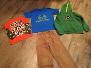 Boys Size 6, 6-7, 7 Clothes Lot Of 4 Pcs. , John Deere, Realtree And More