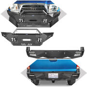 Front+rear Bumper W/winch Plate 2andtimes18w Spotlights Fit 05-15 2nd Gen Toyota Tacoma