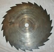 Vintage Signed 13 X 24 Tooth X 1 Diameter Hole Circular Sawmill Cut Off Blade