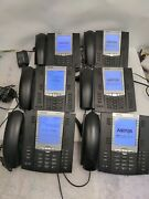 - 6x Aastra 6757i Line Business Phone W/ Stands ,handsets And Ac Adapter Tested