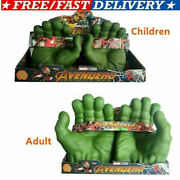 Marvel Avengers Hulk Green Hands Gloves Smash Fists Boxing Roleplay Kids/adults