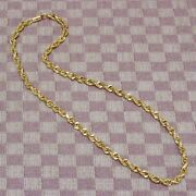 New 10k Yellow Gold 5mm Rope Chain 18 Necklace Solid Not Hollow 32.6 Grams