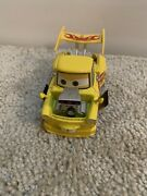 Disney Pixar Cars Race Team Hot Rod Yellow And Red Flames Mater Tow Truck Rare