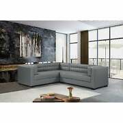 Chic Home Jasper Left Sectional Sofa Pu Leather/linen