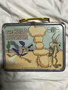 Road Runner Lunch Box Vintage Wiley Coyote 1970and039s Antique Collectible Japan