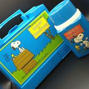 Vintage Thermos Snoopy Lunch Box With Water Bottle 1970and039s Collectible Japan