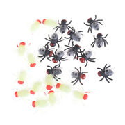 12pcs Plastic Luminous Insect Bugs House Fly Trick Kids Toy Decoration Props Mj