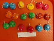 Vintage Dime Store Children's Musical Animal Canastas Silly Toys Lot Of 9 Sets