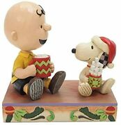 Enesco Jim Shore Snoopy And Charlie Brown Christmas Hot Cocoa 6006937