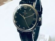 Vintage.rare 34.2mm Menandrsquos Omega Red Star.601 Manual Wind Watch.signed Crown