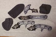 Schrade Taylor Brands Lot Of 4 X Timer Fixed Blade Knives Made In China