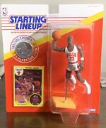 Vintage 90and039s 1991 Michael Jordan Starting Lineup Action Figure With Card Slu