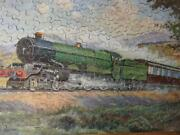 Gwr Chad Valley Vintage 1933 Boxed Wooden Jigsaw Puzzle Royal Route To The West