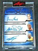 2021 Leaf Ultimate Sports Jerry Westmagic Johnsonshaquille O'neal Auto D 1/1