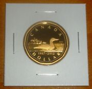 Canada 2012 Proof Loonie Gold Plated Silver One Dollar Coin W/ Ultra Heavy Cameo