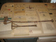 2 Antique Bob Hayley Cattle Horse Branding Irons And 1940's Ranch And Rodeo Docs