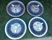 1960and039s Chevrolet Wire Wheel Covers W/ Spinners Camaro Chevelle Nova Impala Sweet