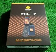 Tcl Flip Boost Mobile 4g Lte 2.8 2mp 4gb Prepaid Phone Brand New Factory Sealed