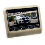 9 Inch Universal Lcd Tft Headrest Monitor With Dvd Player Usb Sd In Beige