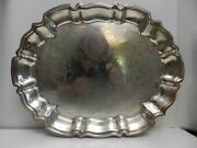 Cc-bx Silverplate Footed Rectangular Tray 14 1/2 X 11 - Ls Leonard Silver Co.