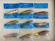 Group Of 9 Original Paul Brown B And L Corky Fishing Lures