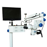 Dental Surgical Microscope 5 Step Magnification With Camera Attachment Free Ship