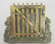 Top Quality Antique Gilt Bronze Photo Frame By Betjemann And Sons 1867 Garden Gate