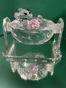Collectible Cradle Glasswork Crystal Figurine Display Free Shipping