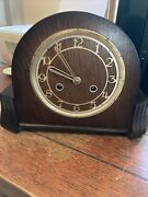 Antique Perivale Eight Day Mantle Clock No Glass Two Keys