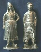 683-antique German Silver Pair Of Salt And Pepper Shakers